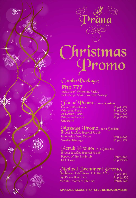 Christmas Promo | Prana Medispa